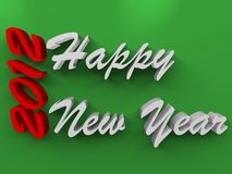 Happy new years on green Stock Images