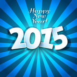 Happy New Years 2015 greeting card Stock Images