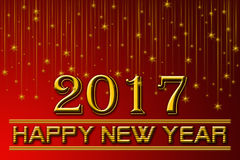 2017 Happy New Years Red Background Royalty Free Stock Photos