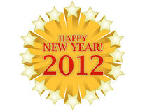 Happy new years star. Isolated over white background Royalty Free Stock Photography