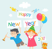Happy new years 2017 Royalty Free Stock Photos