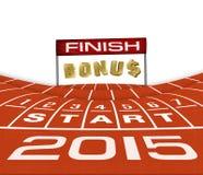 Happy New Yera 2015  Running Background Stock Photography