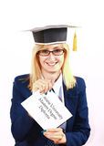 Happy Newly Graduated Girl Stock Photos