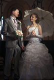 Happy newly-married couple Stock Image