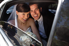 Happy newly wed couple Royalty Free Stock Photography