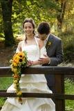 Happy newlywed couple royalty free stock photo
