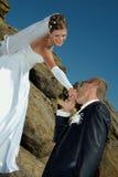 Happy newlywed couple Royalty Free Stock Image