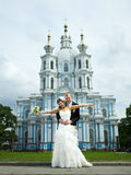 Happy Newlyweds Royalty Free Stock Images