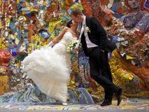 Happy newlyweds Stock Photography