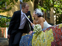 Happy Newlyweds Royalty Free Stock Photos