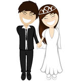 Happy newlyweds smiling Royalty Free Stock Images