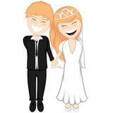 Happy newlyweds smiling Stock Images