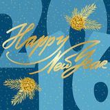 Happy Newr Year Lettering greeting card Royalty Free Stock Photo