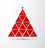 Happy NewYear and Christmas paper tree Stock Images
