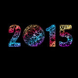 2015.happy newyear. Flat design. 10 Stock Images