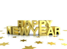 Happy newyear gold illustration on white Stock Photography