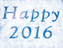 Happy newyear with 2016 in snow. Happy new year with 2016 in snow Stock Image