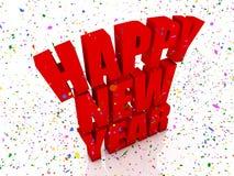 Happy nex year and confetti royalty free illustration