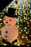 Snowman smile royalty free stock image