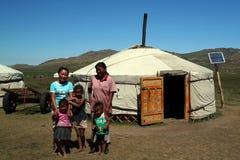 Happy nomadic family Royalty Free Stock Images