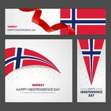 Happy Norway independence day Banner and Background Set. This Vector EPS 10 illustration is best for print media, web design, application design user stock illustration