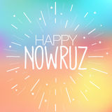 Happy Nowruz greeting card. Iranian, Persian New Year March equinox Colorful vector illustration for holiday celebration. Happy Nowruz greeting card. Iranian Stock Photos