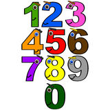 Happy numbers Royalty Free Stock Photo