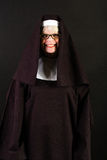 Happy nun Stock Photo