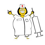 Happy Nurse Stock Images