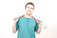 Happy nurse stock image