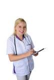 Happy nurse Stock Images