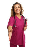 Happy Nurse Friendly Welcoming Stock Images
