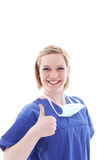 Happy nurse giving a thumbs up Stock Images