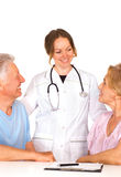 Happy nurse and patients Royalty Free Stock Photo