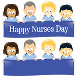 Happy Nurses Day Isolated Royalty Free Stock Photography