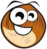 Happy nut cartoon isolated illustration Stock Photography