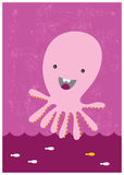 Happy octopus Stock Image