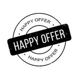 Happy Offer rubber stamp Stock Photography