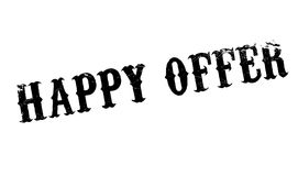 Happy Offer rubber stamp Royalty Free Stock Photo