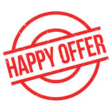 Happy Offer rubber stamp Stock Image