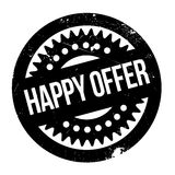Happy Offer rubber stamp Royalty Free Stock Photos