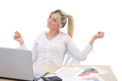 Happy at the office Royalty Free Stock Photo