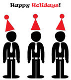 Happy office holidays illustration Royalty Free Stock Photography