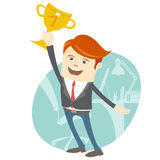 Happy office man holding the cup Stock Images