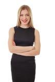 Happy office woman posing at camera Stock Image