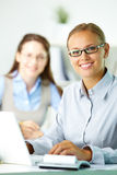 Happy office worker Stock Photography