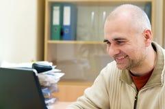 happy office worker Στοκ Εικόνα