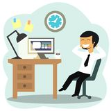 Happy office worker Stock Photo