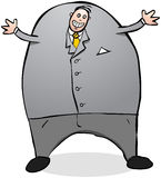Happy office worker of politician cartoon character illustration. Royalty Free Stock Photo