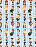 Happy office worker seamless pattern Royalty Free Stock Photos